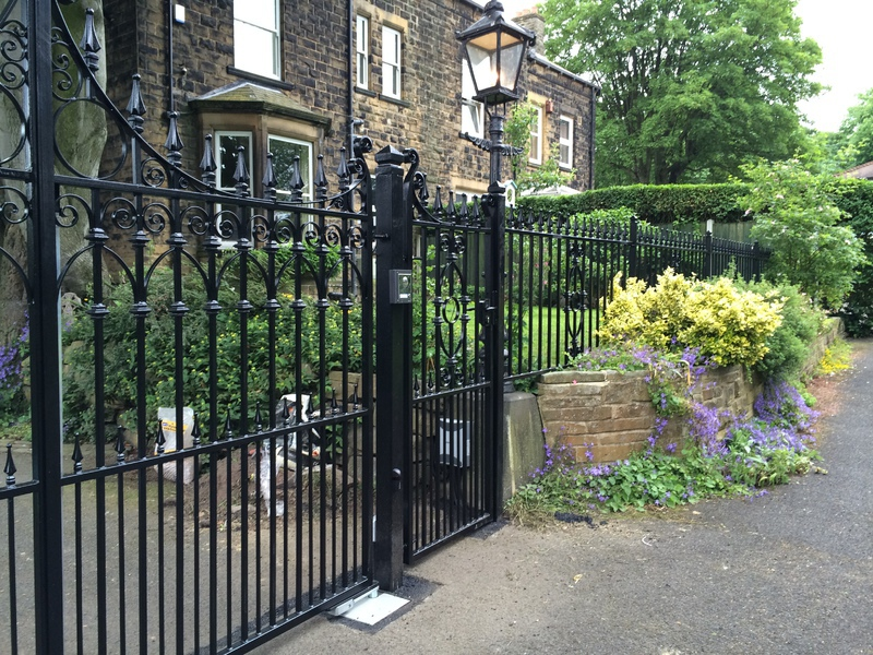 Wrought iron steel gates sliding automatic electric